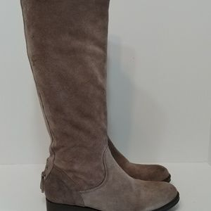 Vera wang lavender suede tall boots